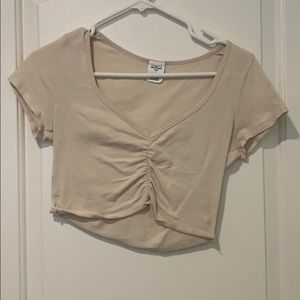 Crop top with v cut